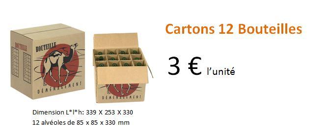 Cartons 12 bouteilles
