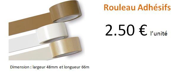 Rouleau Adhésifs à 2.5 €
